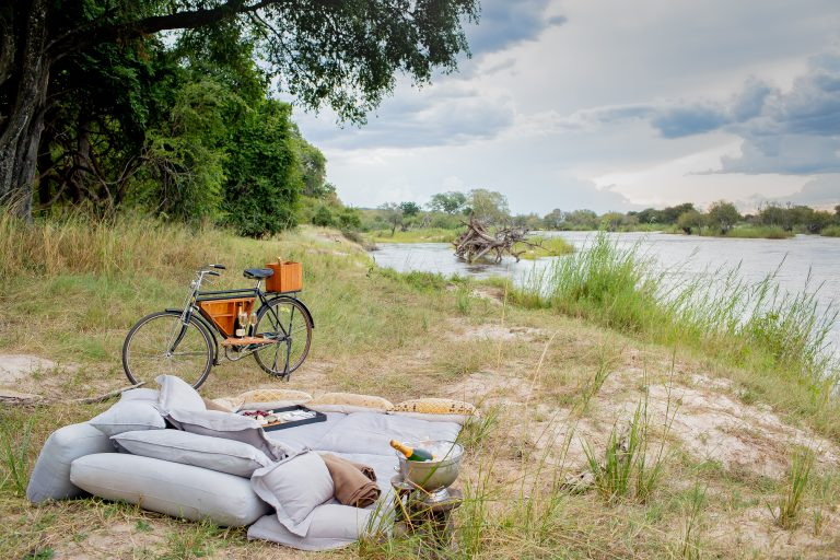 Romantic river side picnic at Matetsi Victoria Falls