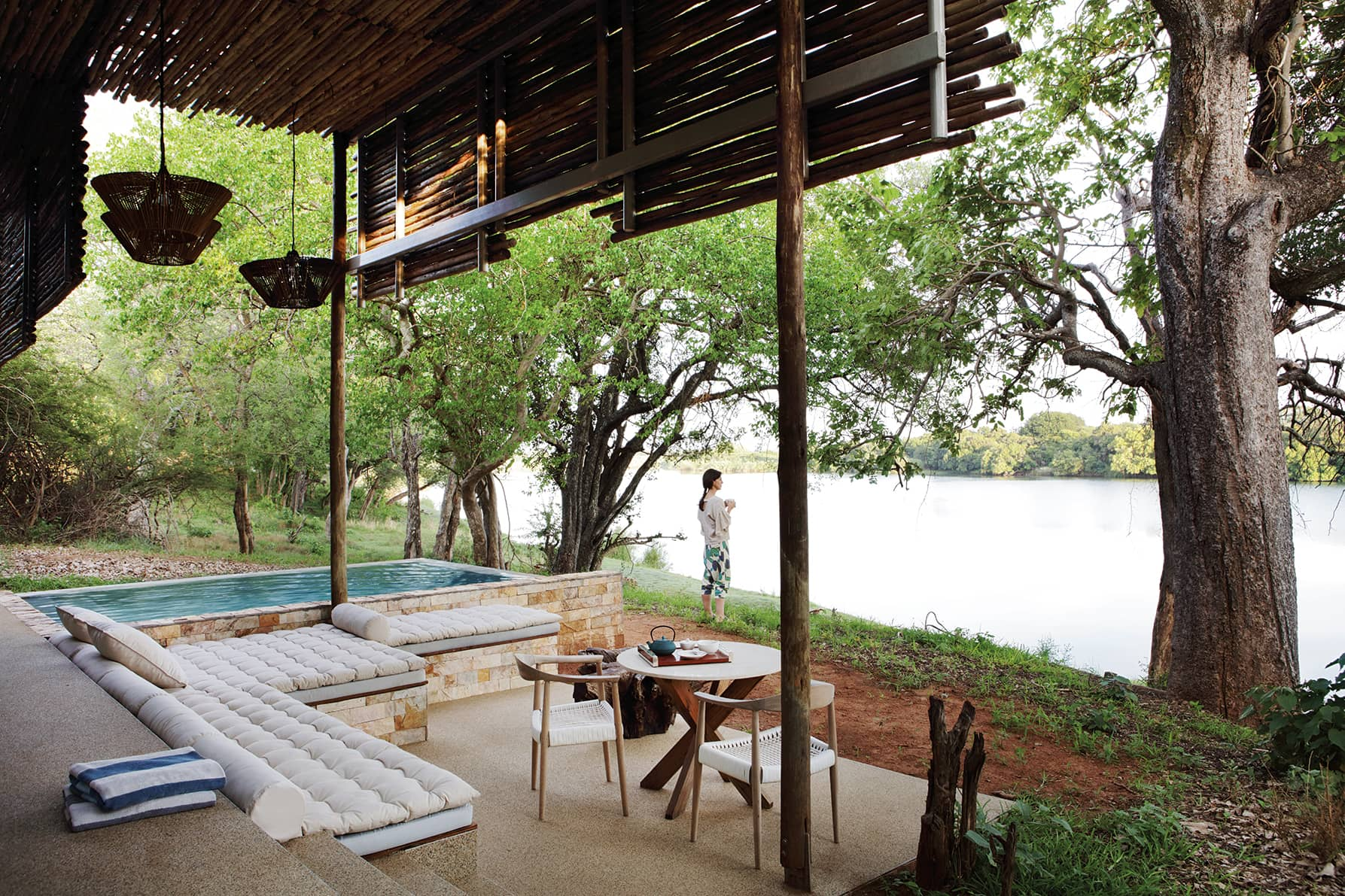 Outside view of a lovely suite at Matetsi Victoria Falls